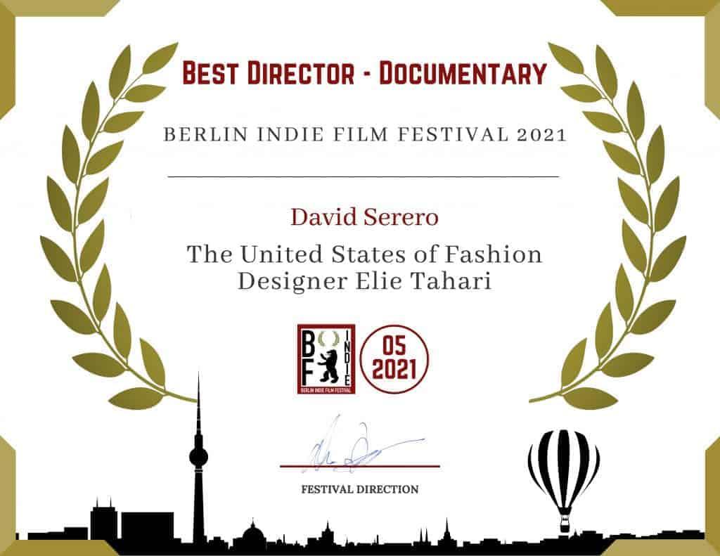 David Serero wins the Best Director Documentary Award for his short film