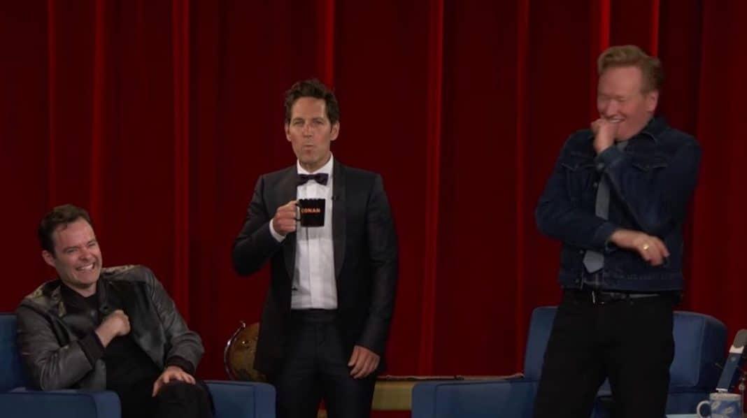 Paul Rudd pulls final Mac and Me prank on Conan O'Brien