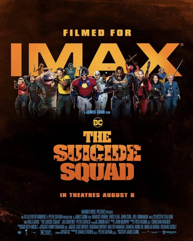 the suicide squad imax poster reveals